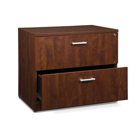 OFM Fulcrum Series Locking Lateral File Cabinet, 2-Drawer Filing Cabinet, Cherry (CL-L36W-CHY) ; UPC: 845123097588 ; Image 6