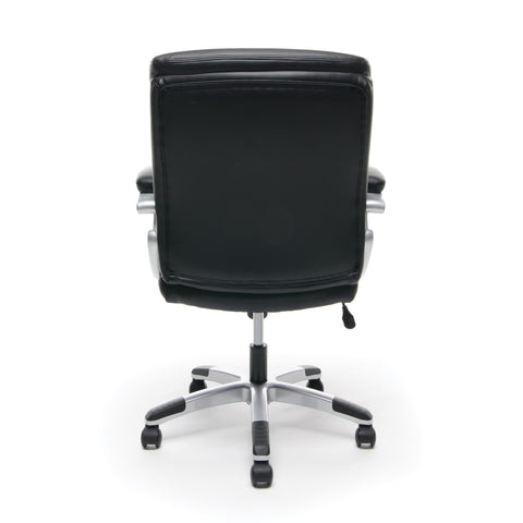 Essentials by OFM ESS-6020 Executive Office Chair, Black with Silver Frame ; UPC: 089191013860 ; Image 3