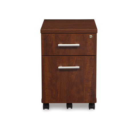 OFM Fulcrum Series Locking Pedestal, Mobile 2-Drawer Filing Cabinet, Cherry (CL-MBF-CHY) ; UPC: 845123097540 ; Image 2