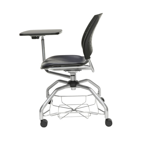 OFM Stars Foresee Series Tablet Chair with Removable Vinyl Seat Cushion - Student Desk Chair, Navy (329T-VAM) ; UPC: 845123094334 ; Image 5