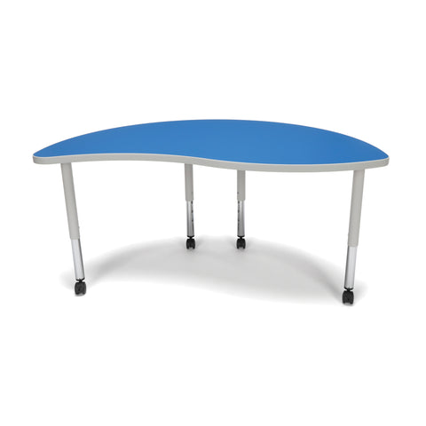OFM Adapt Series Ying Student Table - 20-28? Height Adjustable Desk with Casters, Blue (YING-SLC) ; UPC: 845123096789 ; Image 3