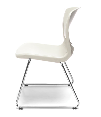OFM Model 315 Multi-Use Stack Chair, Plastic Seat and Back, Ivory ; UPC: 845123034781 ; Image 5