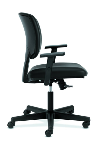 HON Volt Task Chair | Synchro-Tilt, Tension, Lock | Adjustable Arms | Black SofThread Leather ; UPC: 192767001014 ; Image 4