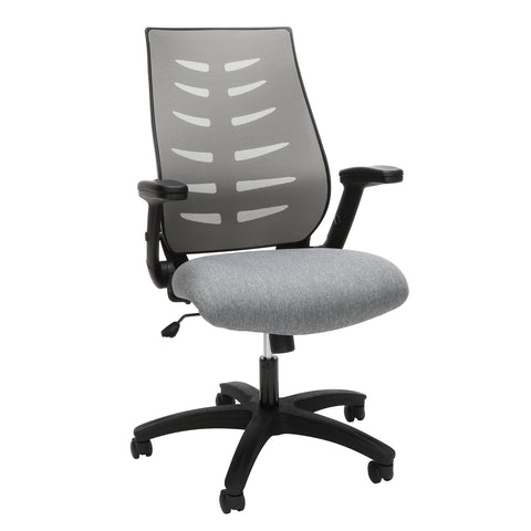 OFM Model 530-GRY Core Collection Midback Mesh Office Chair for Computer Desk, Gray ; UPC: 192767000352 ; Image 1