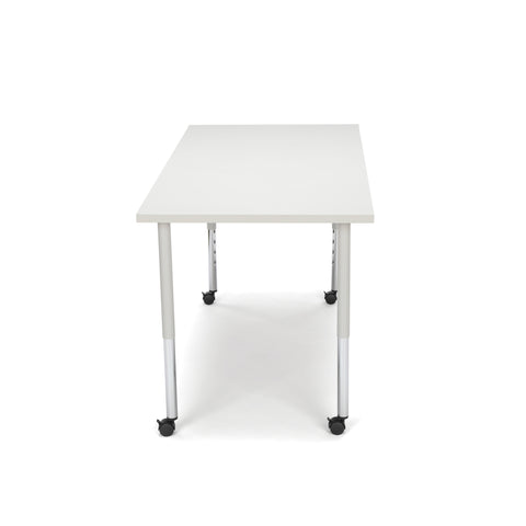 OFM Adapt Series Rectangle Standard Table - 25-33? Height Adjustable Desk with Casters, Gray Nebula (RECT-LLC) ; UPC: 845123096079 ; Image 5