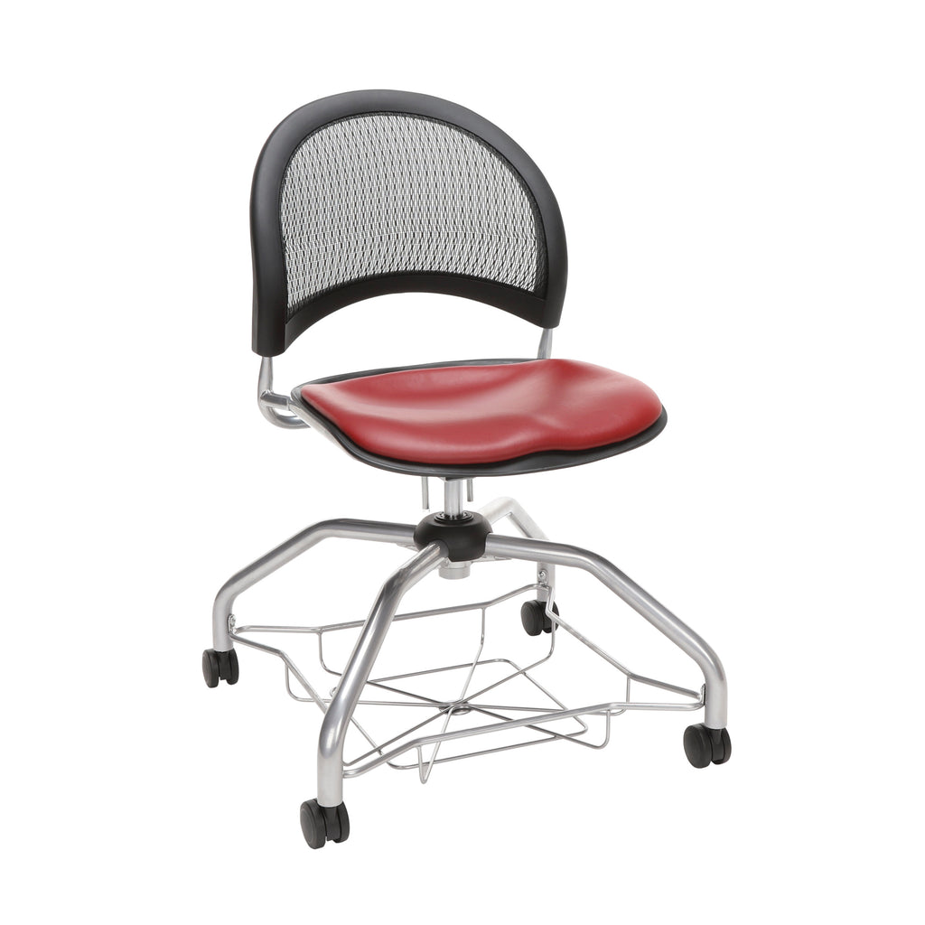 OFM Moon Foresee Series Chair with Removable Vinyl Seat Cushion - Student Chair, Wine (339-VAM) ; UPC: 845123094532 ; Image 1