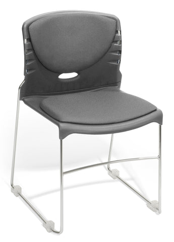OFM 320-F-801 Stack Chair with Fabric Seat and Back ; UPC: 811588013982 ; Image 1