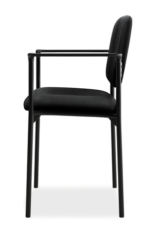 HON Scatter Guest Chair - Upholstered Stacking Chair with Arms, Office Furniture, Black (VL616) ; UPC: 645162996220 ; Image 5