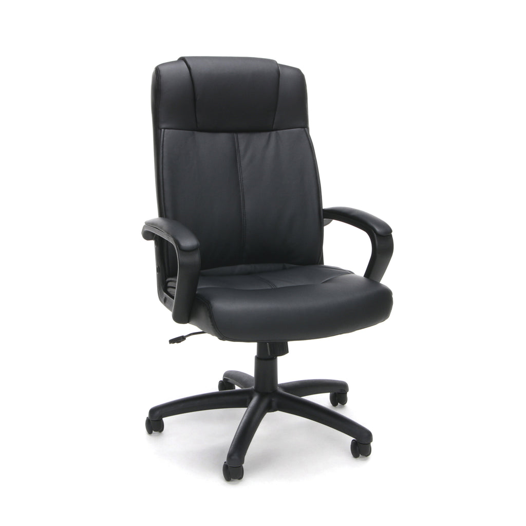 Essentials by OFM ESS-103 High Back Bonded Leather Manager's Chair, Black ; UPC: 845123080108 ; Image 1