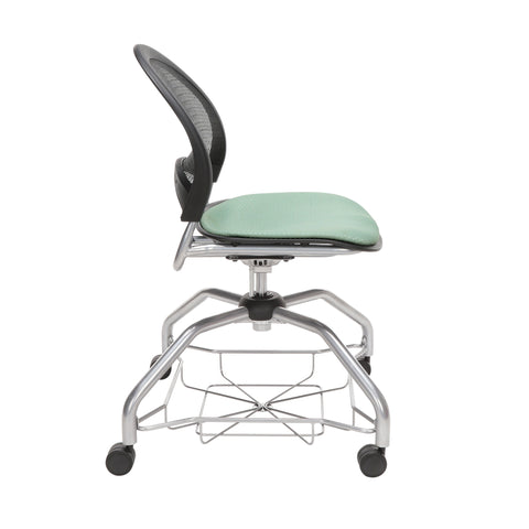 OFM Moon Foresee Series Chair with Removable Fabric Seat Cushion - Student Chair, Sage Green (339) ; UPC: 845123094419 ; Image 4