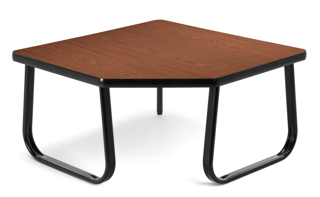 "OFM Model TABLE3030 30"" Corner Table with Sled Base, Mahogany ; UPC: 811588012428 ; Image 1"