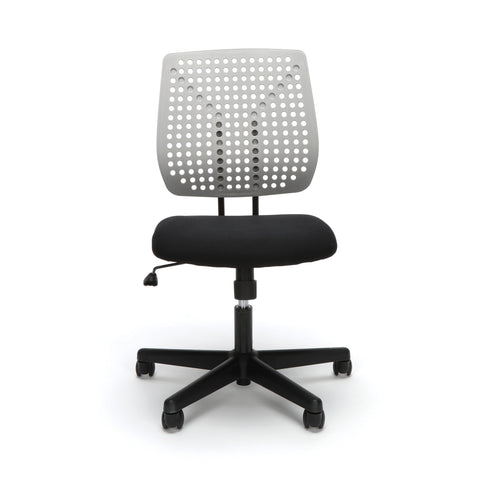 Essentials by OFM ESS-2050 Plastic Back Task Chair, Black with Gray ; UPC: 845123092996 ; Image 2
