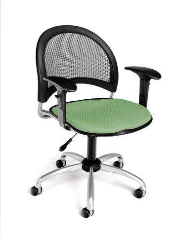 OFM 336-AA3-2207 Moon Swivel Chair with Arms, Sage Green ; UPC: 845123013991 ; Image 1
