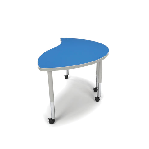 OFM Adapt Series Ying Student Table - 20-28? Height Adjustable Desk with Casters, Blue (YING-SLC) ; UPC: 845123096789 ; Image 5