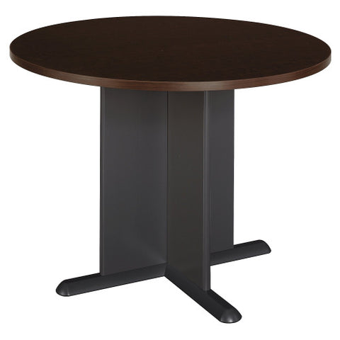 Bush A & C Conference Tables 42 Inch Round Conference Table, Mocha Cherry TB12942A ; UPC: 042976249212 ; Image 1