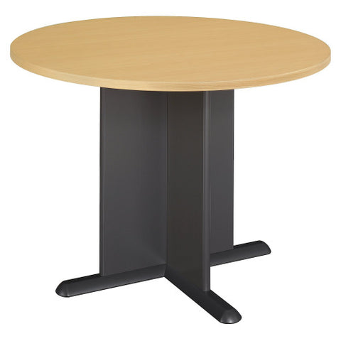 Bush A & C Conference Tables 42 Inch Round Conference Table, Beech TB14342A ; UPC: 042976143428 ; Image 1