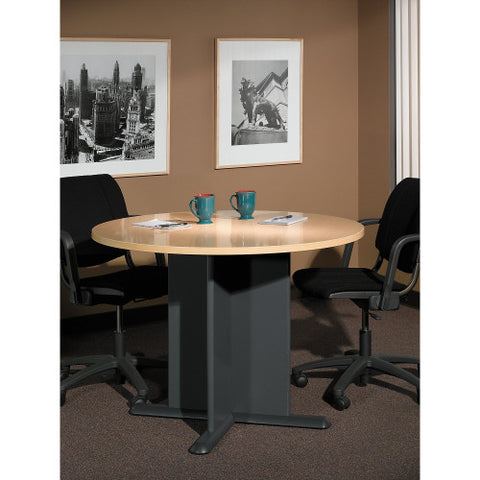 Bush A & C Conference Tables 42 Inch Round Conference Table, Beech TB14342A ; UPC: 042976143428 ; Image 2