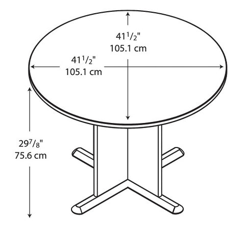 Bush A & C Conference Tables 42 Inch Round Conference Table, Beech TB14342A ; UPC: 042976143428 ; Image 3
