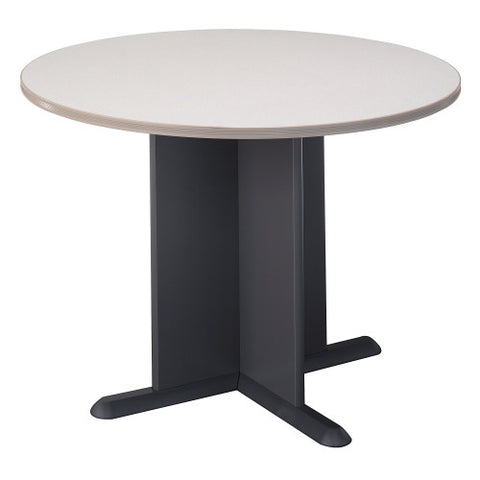 Bush A & C Conference Tables 42 Inch Round Conference Table, Pewter TB14542A ; UPC: 042976145422 ; Image 1