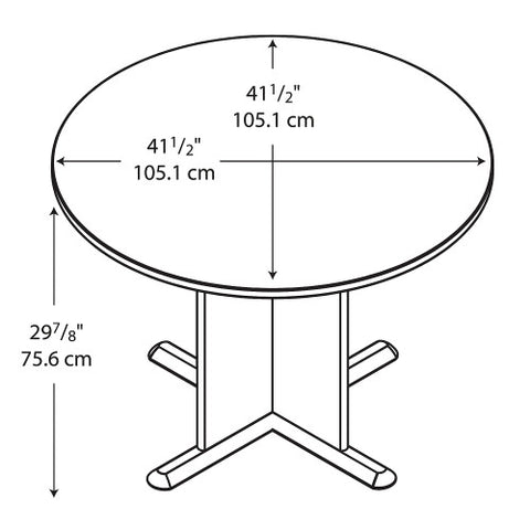 Bush A & C Conference Tables 42 Inch Round Conference Table, Pewter TB14542A ; UPC: 042976145422 ; Image 3