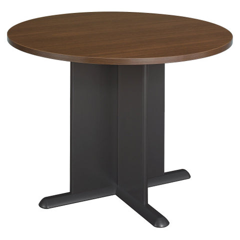 Bush A & C Conference Tables 42 Inch Round Conference Table, Sienna Walnut TB25542 ; UPC: 042976255428 ; Image 1
