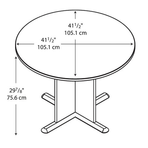 Bush A & C Conference Tables 42 Inch Round Conference Table, Sienna Walnut TB25542 ; UPC: 042976255428 ; Image 2