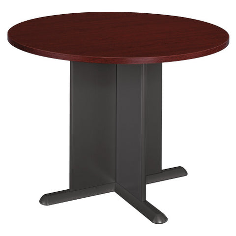 Bush A & C Conference Tables 42 Inch Round Conference Table, Mahogany TB36742A ; UPC: 042976247638 ; Image 1