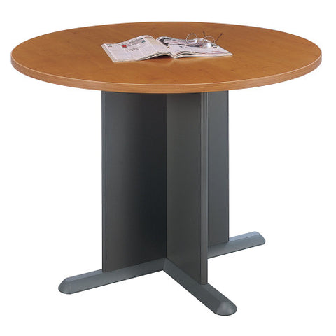 Bush A & C Conference Tables 42 Inch Round Conference Table, Natural Cherry TB57442 ; UPC: 042976574420 ; Image 1
