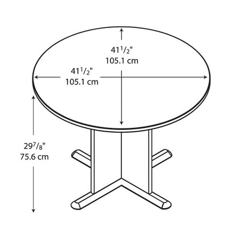 Bush A & C Conference Tables 42 Inch Round Conference Table, Natural Cherry TB57442 ; UPC: 042976574420 ; Image 2