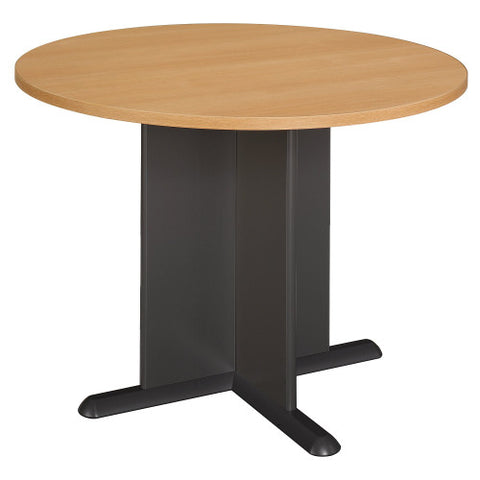 Bush A & C Conference Tables 42 Inch Round Conference Table, Light Oak TB64342A ; UPC: 042976643423 ; Image 1