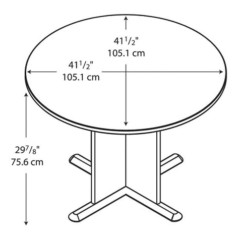 Bush A & C Conference Tables 42 Inch Round Conference Table, Light Oak TB64342A ; UPC: 042976643423 ; Image 2