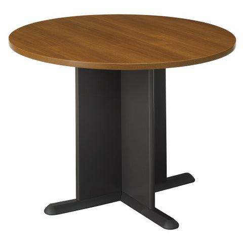 Bush A & C Conference Tables 42 Inch Round Conference Table, Warm Oak TB67542 ; UPC: 042976675424 ; Image 1