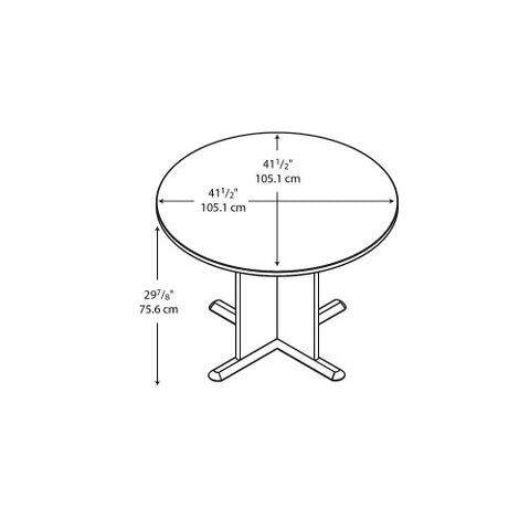 Bush A & C Conference Tables 42 Inch Round Conference Table, Warm Oak TB67542 ; UPC: 042976675424 ; Image 2
