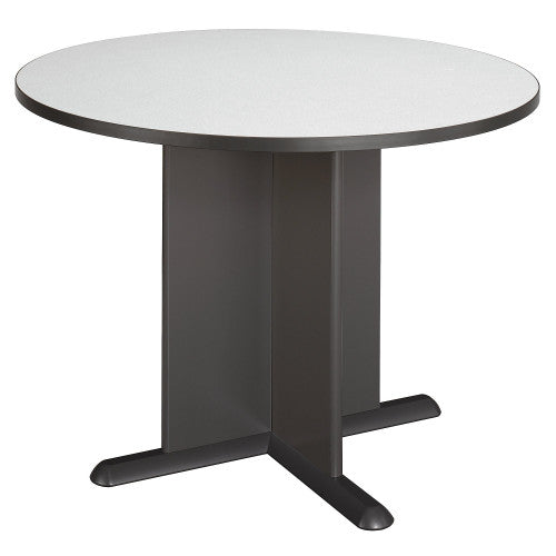 Bush A & C Conference Tables 42 Inch Round Conference Table, Slate TB84242A ; UPC: 042976842420 ; Image 1