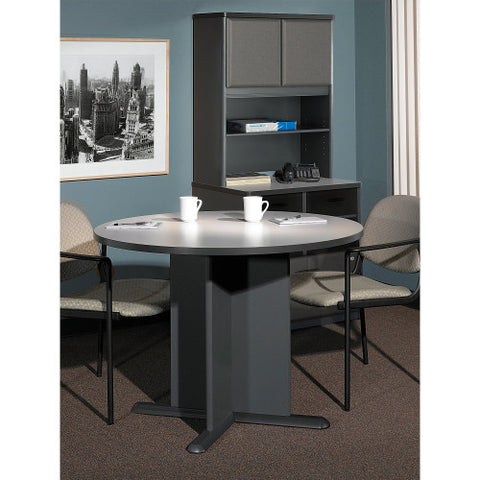 Bush A & C Conference Tables 42 Inch Round Conference Table, Slate TB84242A ; UPC: 042976842420 ; Image 2