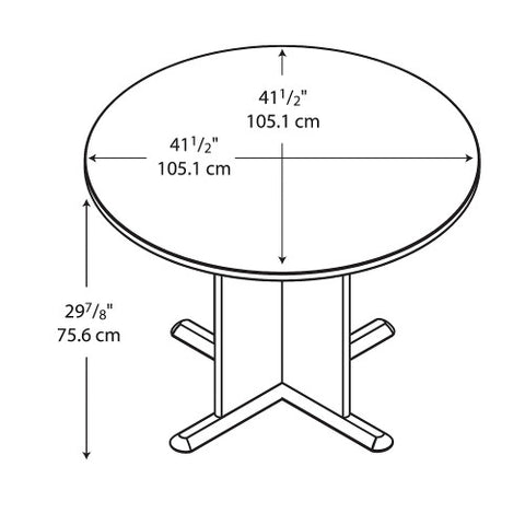 Bush A & C Conference Tables 42 Inch Round Conference Table, Slate TB84242A ; UPC: 042976842420 ; Image 3