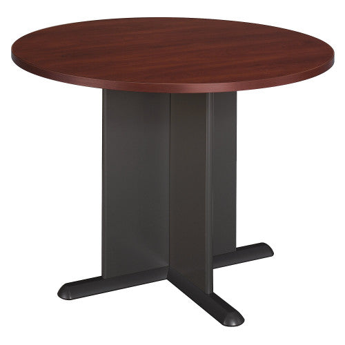 Bush A & C Conference Tables 42 Inch Round Conference Table, Hansen Cherry TB90442A ; UPC: 042976904425 ; Image 1
