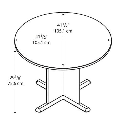 Bush A & C Conference Tables 42 Inch Round Conference Table, Hansen Cherry TB90442A ; UPC: 042976904425 ; Image 2