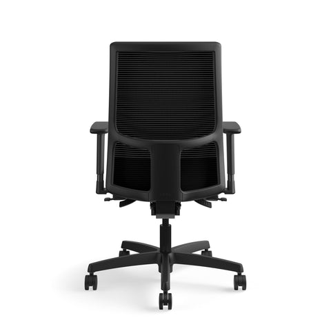 HON Ignition Series Mid-Back Work Chair - Mesh Computer Chair for Office Desk, Black (HIWM2) ; UPC: 745123568005 ; Image 3