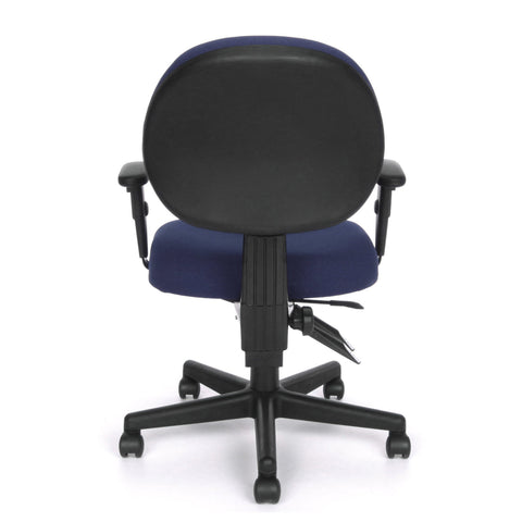 OFM Model 241-AA 24 Hour Ergonomic Upholstered Task Chair with Arms, Blue ; UPC: 845123012369 ; Image 5