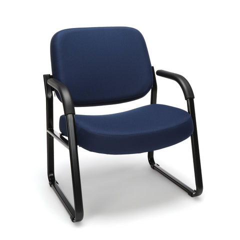 OFM Model 407 Fabric Big and Tall Guest and Reception Chair with Arms, Navy ; UPC: 845123028575 ; Image 1