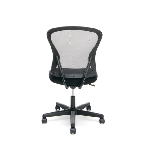Essentials by OFM ESS-3010 Swivel Mesh Back Armless Task Chair, Mid Back, Black ; UPC: 089191013419 ; Image 3