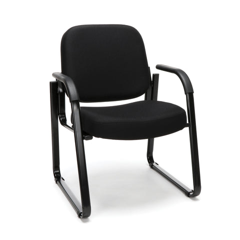 OFM Model 403 Fabric Guest and Reception Chair with Arms and Extra Thick Cushion, Black ; UPC: 811588014163 ; Image 1