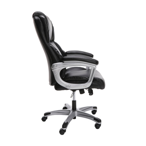 OFM Essentials Series Ergonomic Executive Bonded Leather Office Chair, in Black (ESS-6033-BLK) ; UPC: 192767000284 ; Image 4
