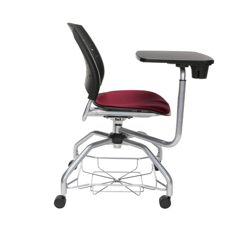 OFM Stars Foresee Series Tablet Chair with Removable Fabric Seat Cushion - Student Desk Chair, Burgundy (329T) ; UPC: 845123094235 ; Image 4