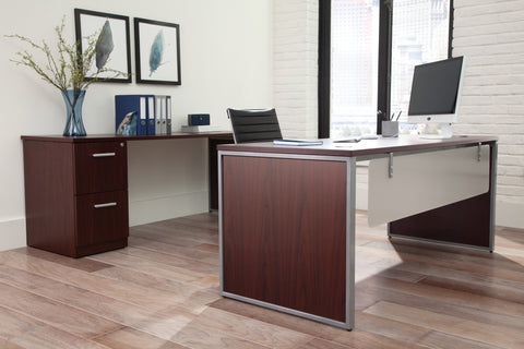 OFM Fulcrum Series 72x30 Desk, Minimalistic Modern Office Desk, Mahogany (CL-D7230-MHG) ; UPC: 845123097137 ; Image 10