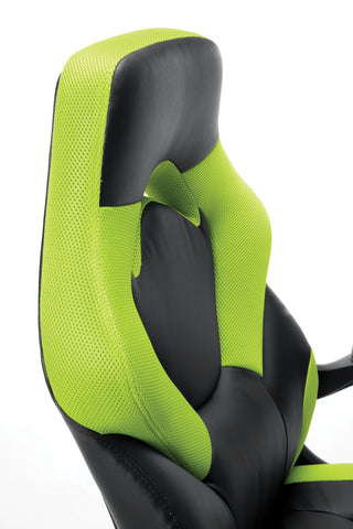 OFM Essentials Collection Racing Style Bonded Leather Gaming Chair, in Green (ESS-3085-GRN) ; UPC: 845123089293 ; Image 7