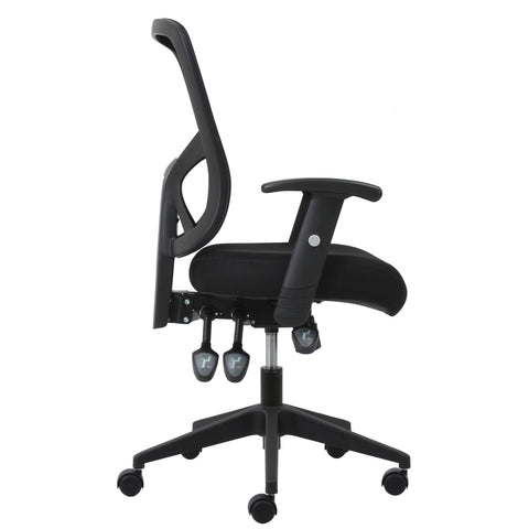 Essentials by OFM ESS-3050 3-Paddle Ergonomic Mesh High-Back Task Chair with Arms and Lumbar Support, Black ; UPC: 089191013815 ; Image 4