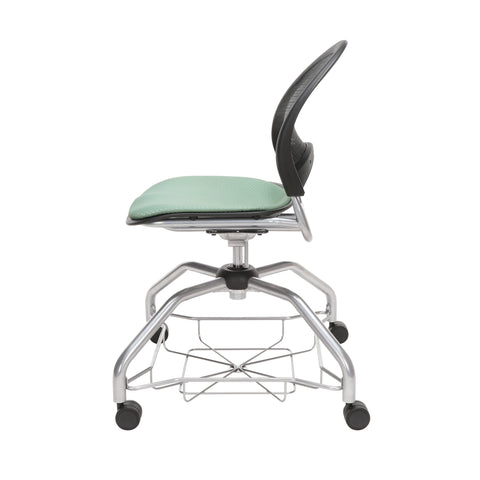 OFM Moon Foresee Series Chair with Removable Fabric Seat Cushion - Student Chair, Sage Green (339) ; UPC: 845123094419 ; Image 5