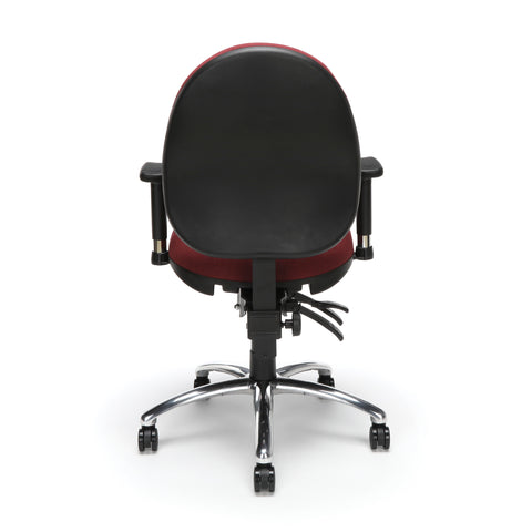 OFM 24 Hour Big and Tall Ergonomic Task Chair - Computer Desk Swivel Chair with Arms, Burgundy (247) ; UPC: 811588010288 ; Image 3